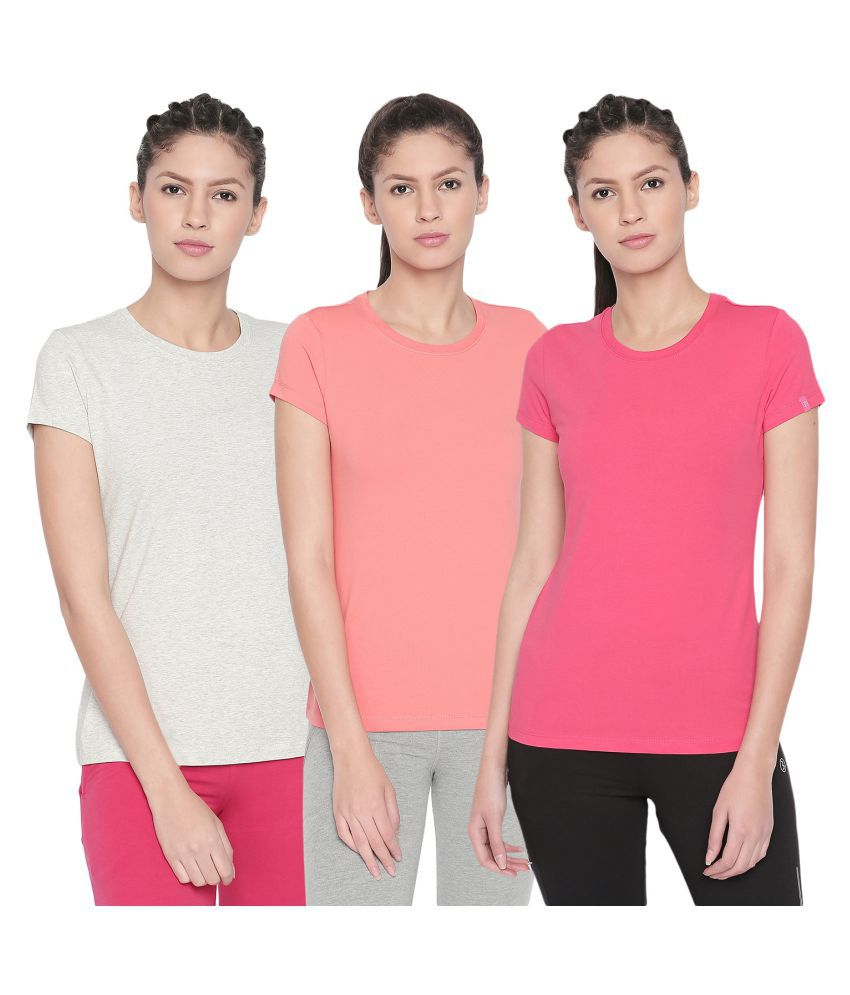 Bodyactive Pack of 3 Women's Solid Tshirts