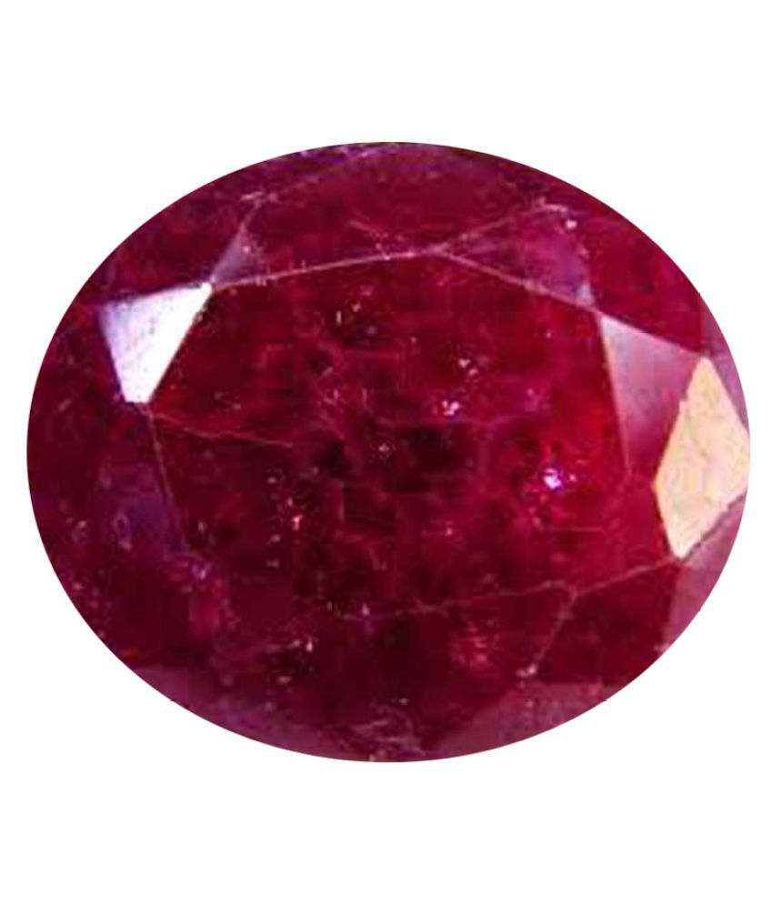 Tejvij And Sons 4.25 -Ratti Self certified Red Ruby Semi-precious Gemstone