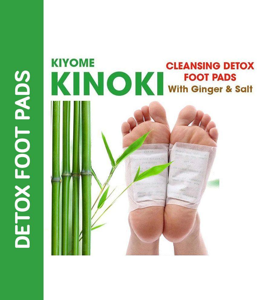 Kinoki Cleansing Detox Foot Pads- 10Pcs (Free Size, White) Cleansing foot treatment