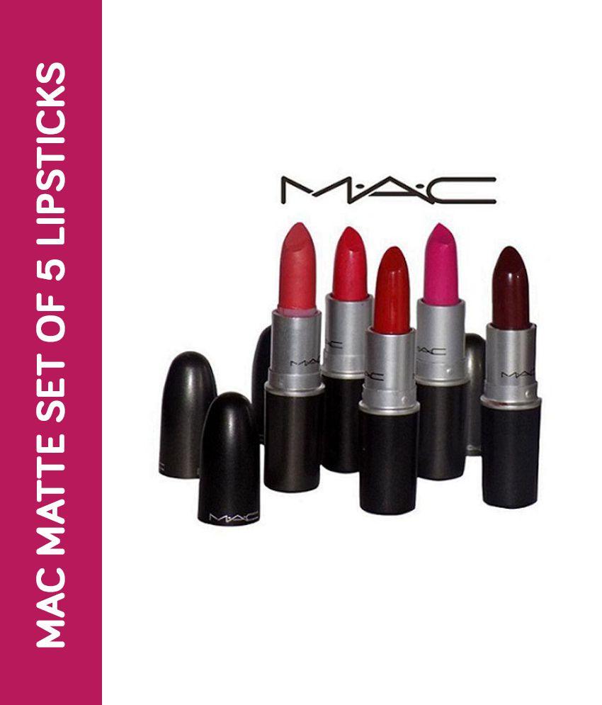 Mac Matte Finish (Set of 5) Combo Lipstick Multi 15 gm