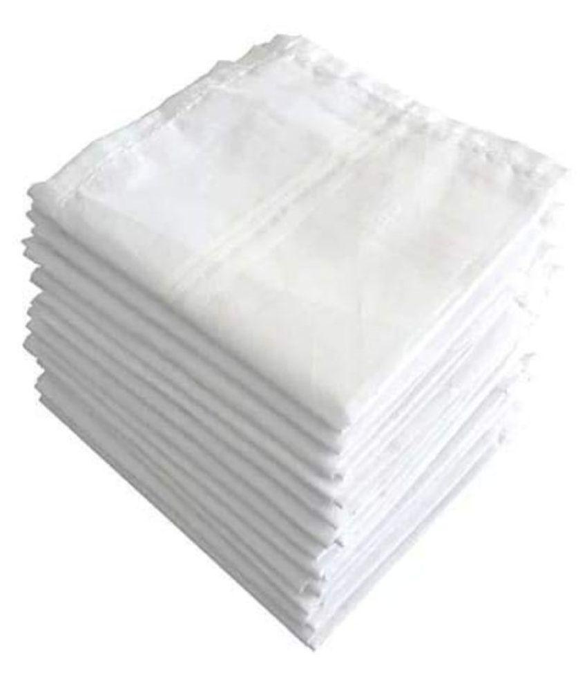 NEWMAN Men's 100% Cotton Handkerchief For Men & Boys Set of 12 PCs