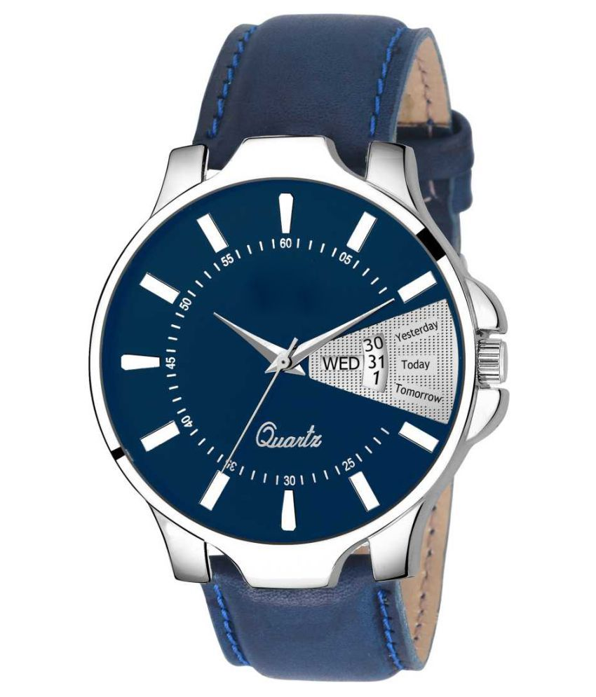 newmen 2045 Day and Date Leather Analog Men's Watch