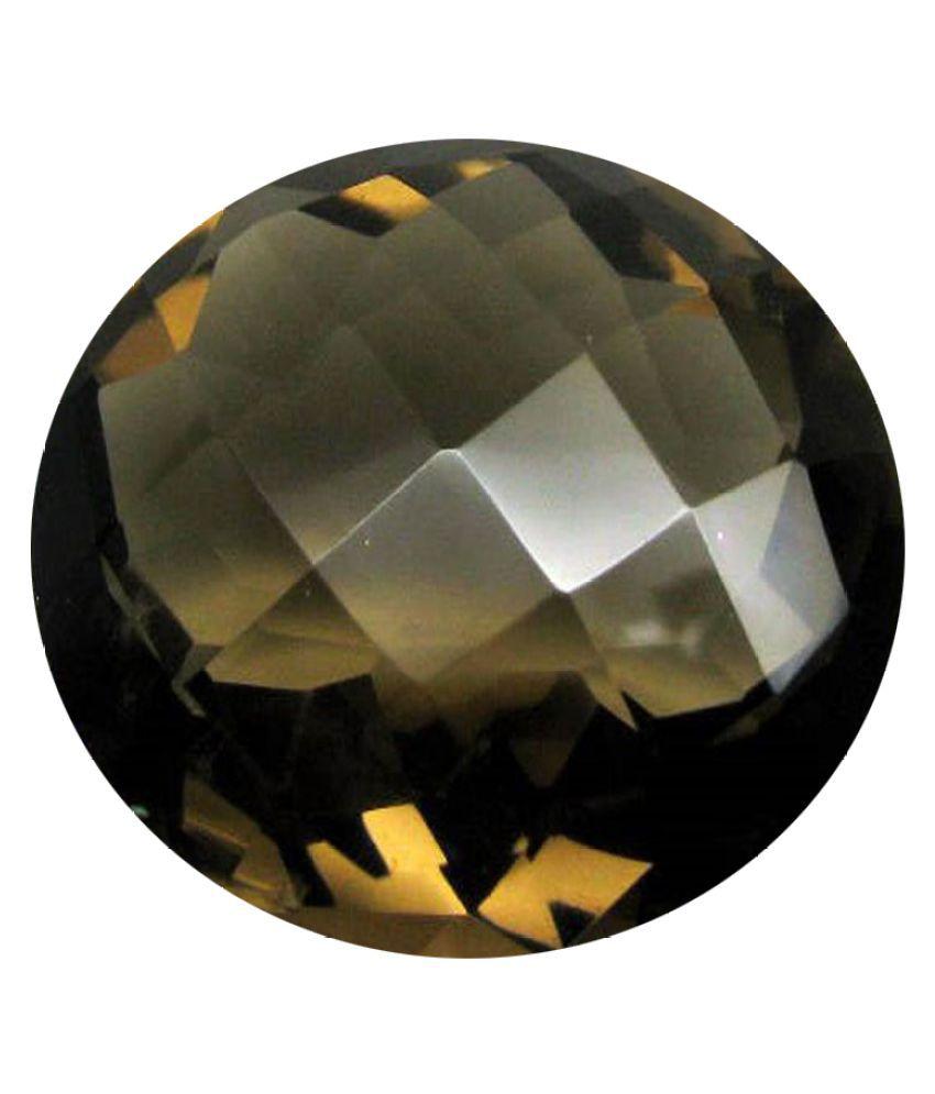 Tejvij And Sons 5.25 -Ratti Self certified Brown Quartz Semi-precious Gemstone
