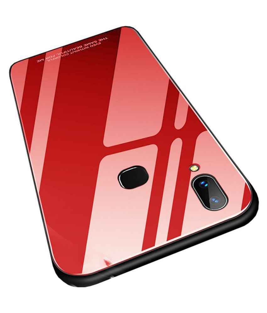 Samsung Galaxy J7 Pro Glass Cover Bright Traders   Red