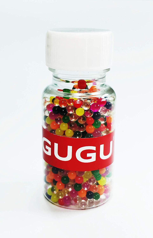 280 & GUGU Water Jelly Ball Crystal Mud Soil Gel Colorful Beads for Flower Vase Aquarium Decor. 650 Balls Bottle (Multicolor)