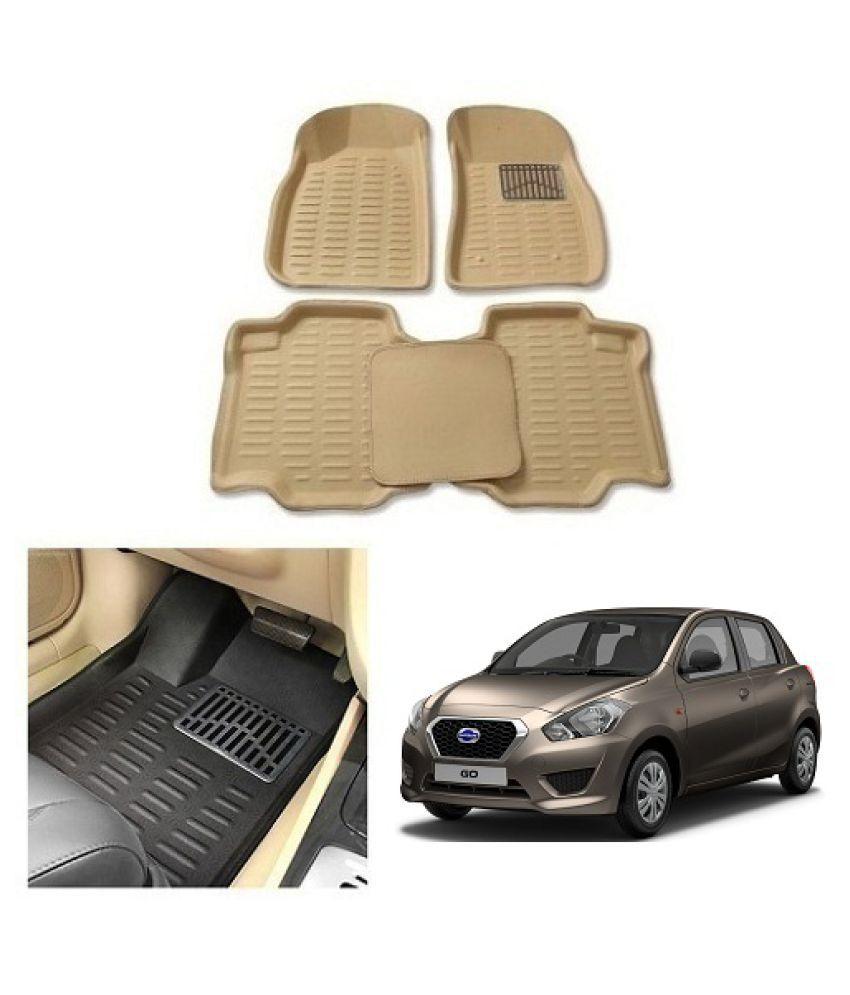 Neeb Traders  Car Carpet Cream Car Floor/Foot Mats for Datsun Go