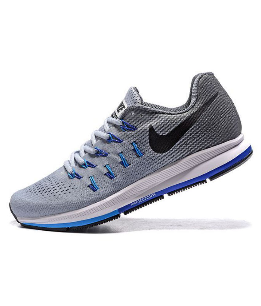 best service efa09 9e051 Nike Pegasus 33 Grey Running Shoes