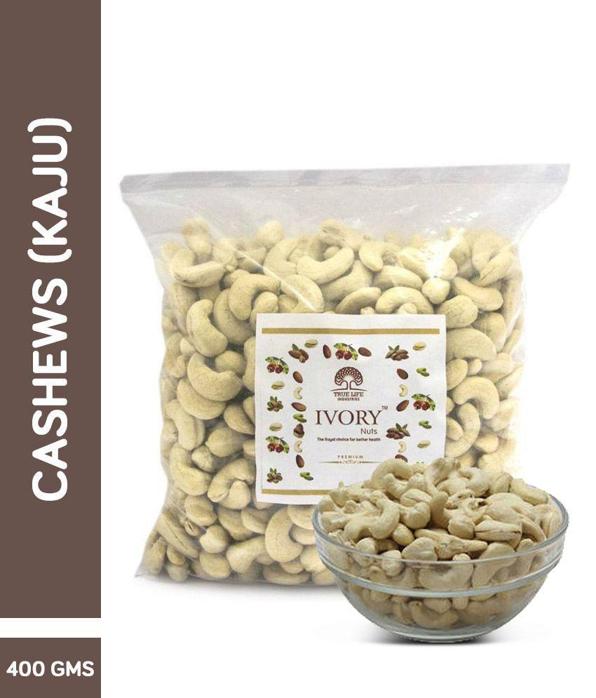 True Life Industries Nuts Regular Cashew nut (Kaju) 400 gm
