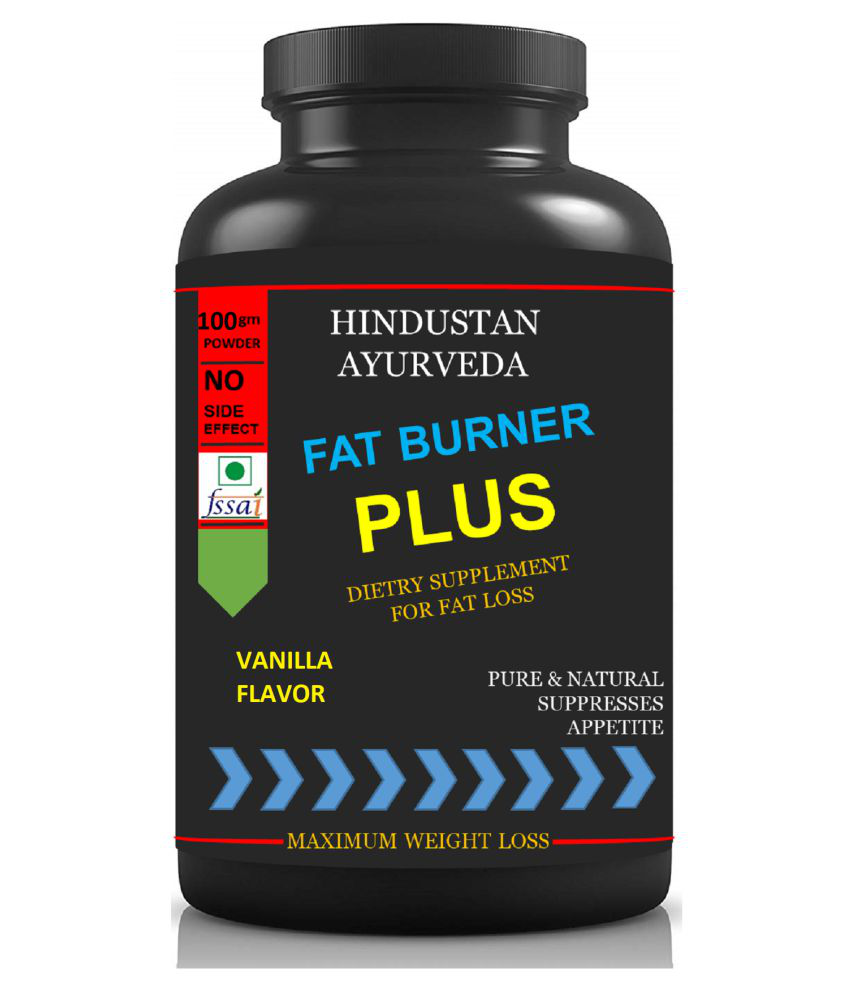 Hindustan Ayurveda Fat Burner Plus Vanilla Flavor Powder 100 gm Pack Of 1