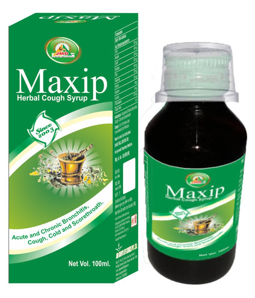 JMD Growth MAXIP COUGH SYRUP / HERBAL / COLD Liquid 100 ml Pack of 3