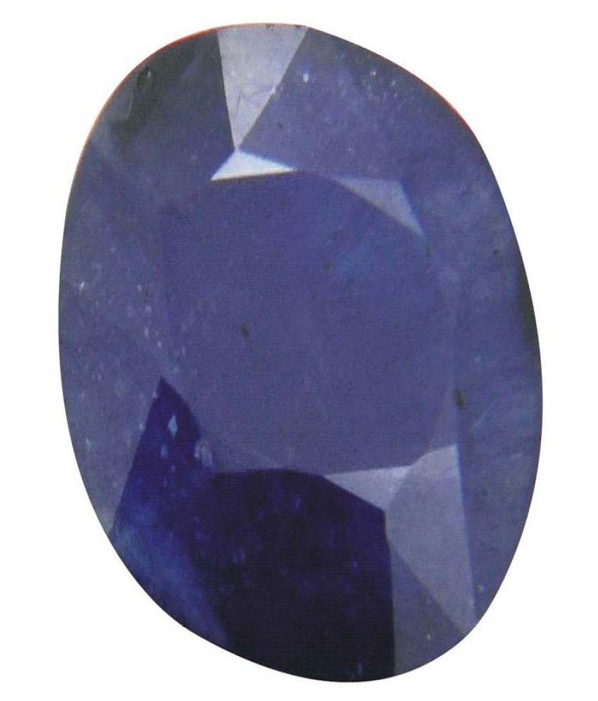 Tejvij And Sons 8.25 -Ratti Self certified Blue Sapphire Semi-precious Gemstone