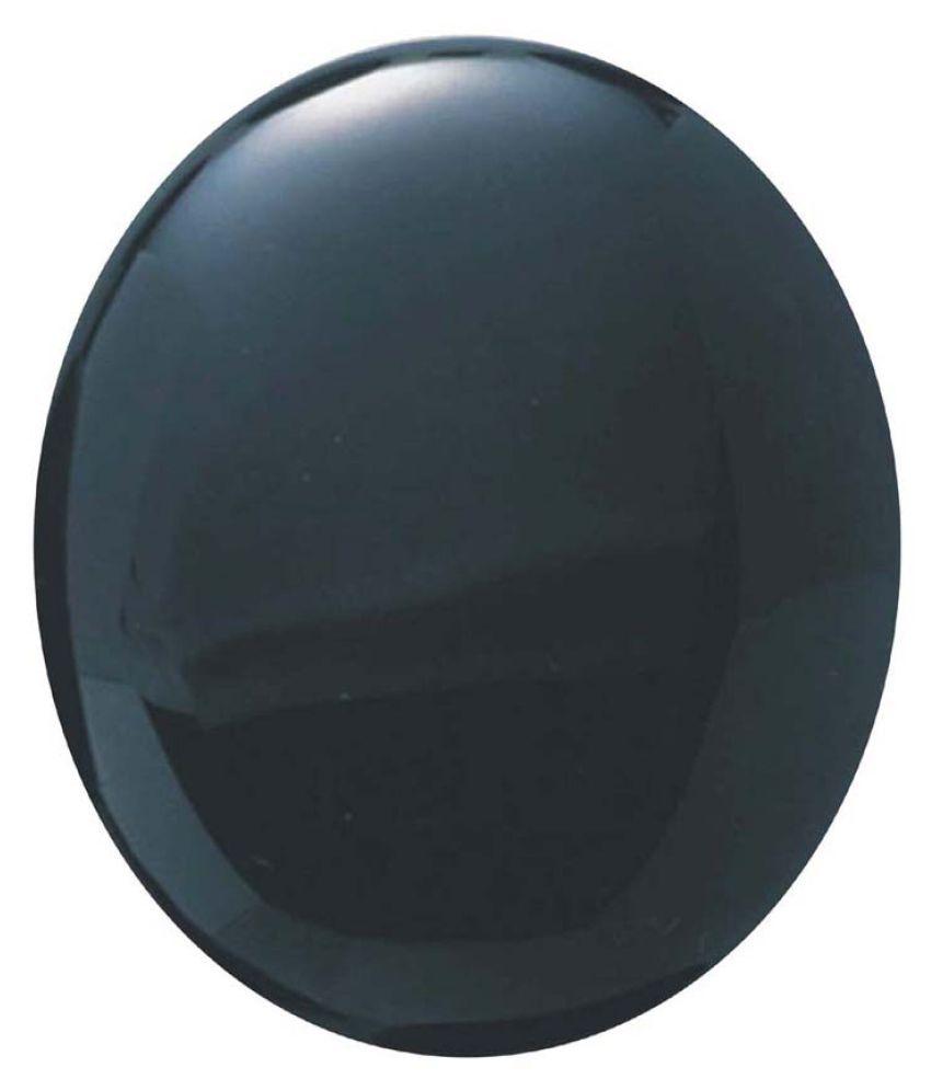 Tejvij And Sons 3.25 -Ratti Self certified Black Onyx Semi-precious Gemstone
