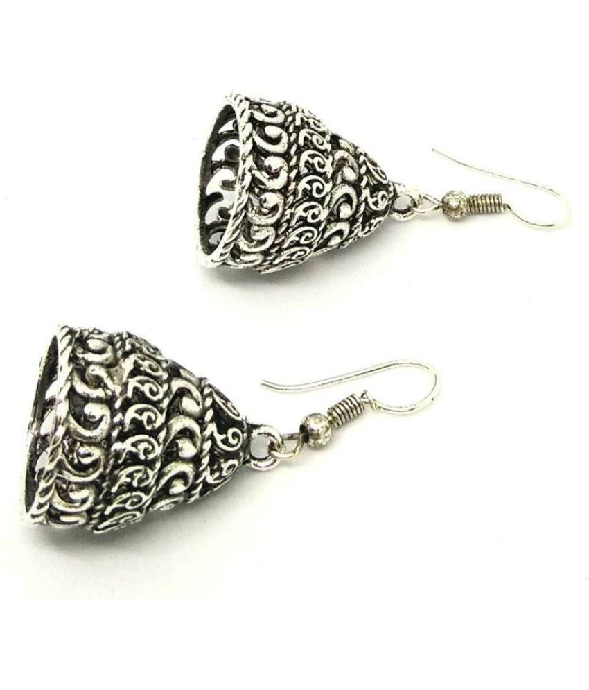 GoldNera Antique Grace Alloy Jhumki Earrings