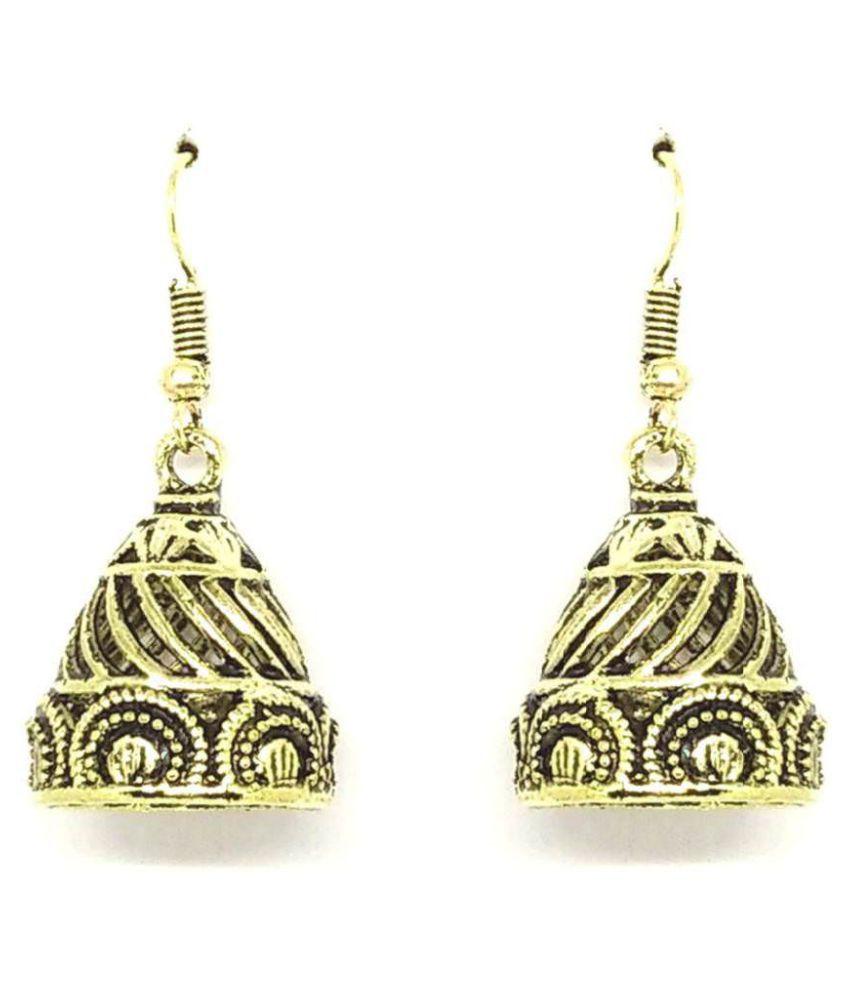 GoldNera Antique Lusture Alloy Jhumki Earrings