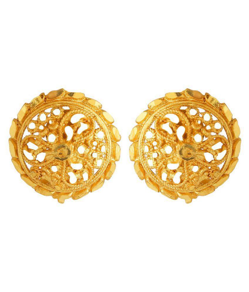 Goldnera Daily Wear Golden Shining Stud Earring