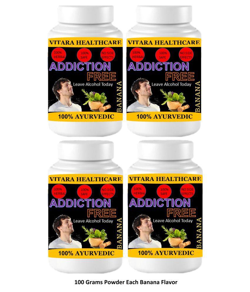 VITARA HEALTHCARE Addiction Free Banana Flavor Powder 400 gm Pack Of 4