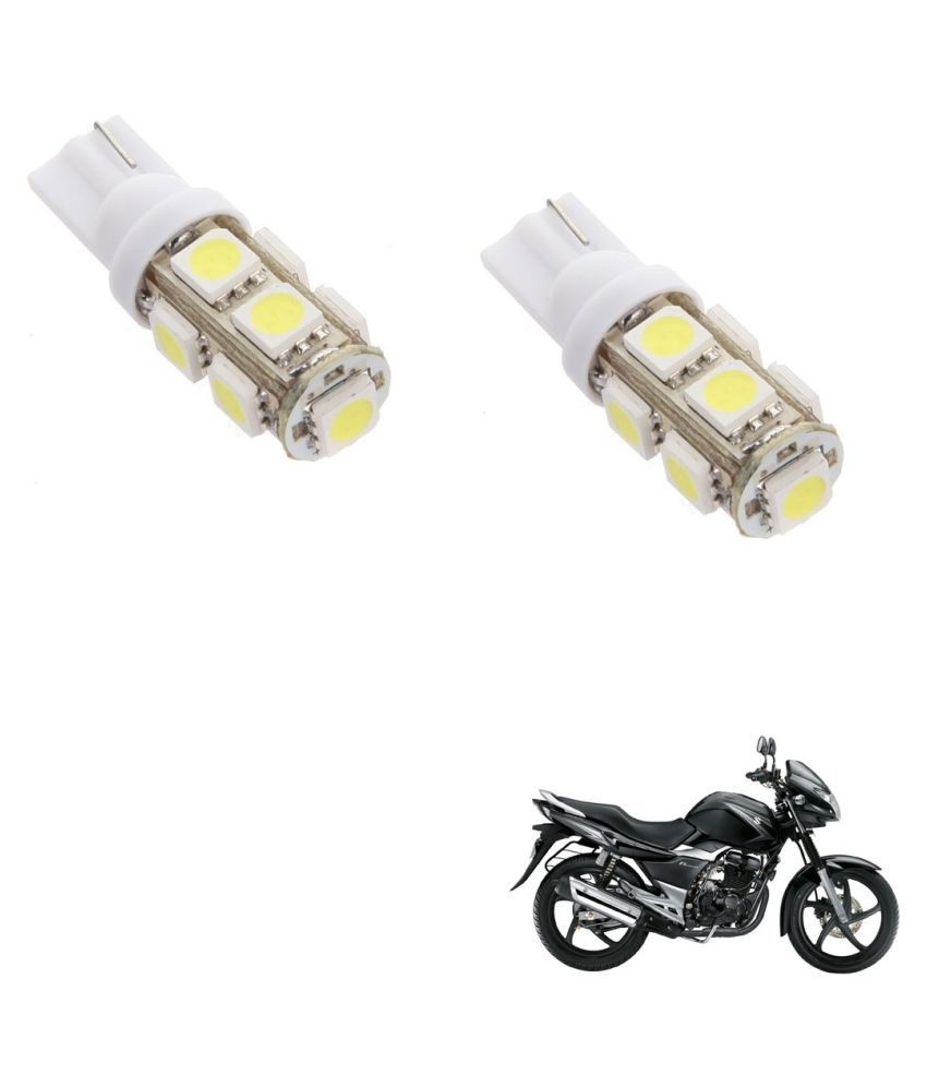 Auto Addict Bike T10 9 SMD Headlight LED Bulb for Headlights,Parking Light,Number Plate Light,Indicator Light For Suzuki gs150r black