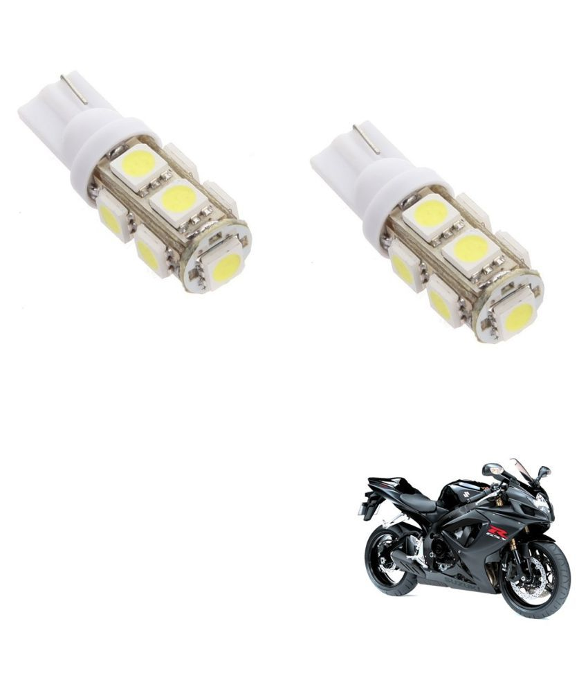 Auto Addict Bike T10 9 SMD Headlight LED Bulb for Headlights,Parking Light,Number Plate Light,Indicator Light For Suzuki Gixxer 600