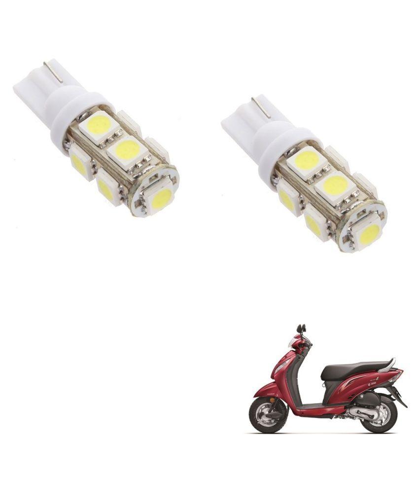 Auto Addict Scooty T10 9 SMD Headlight LED Bulb for Headlights,Parking Light,Number Plate Light,Indicator Light For Honda New Activa