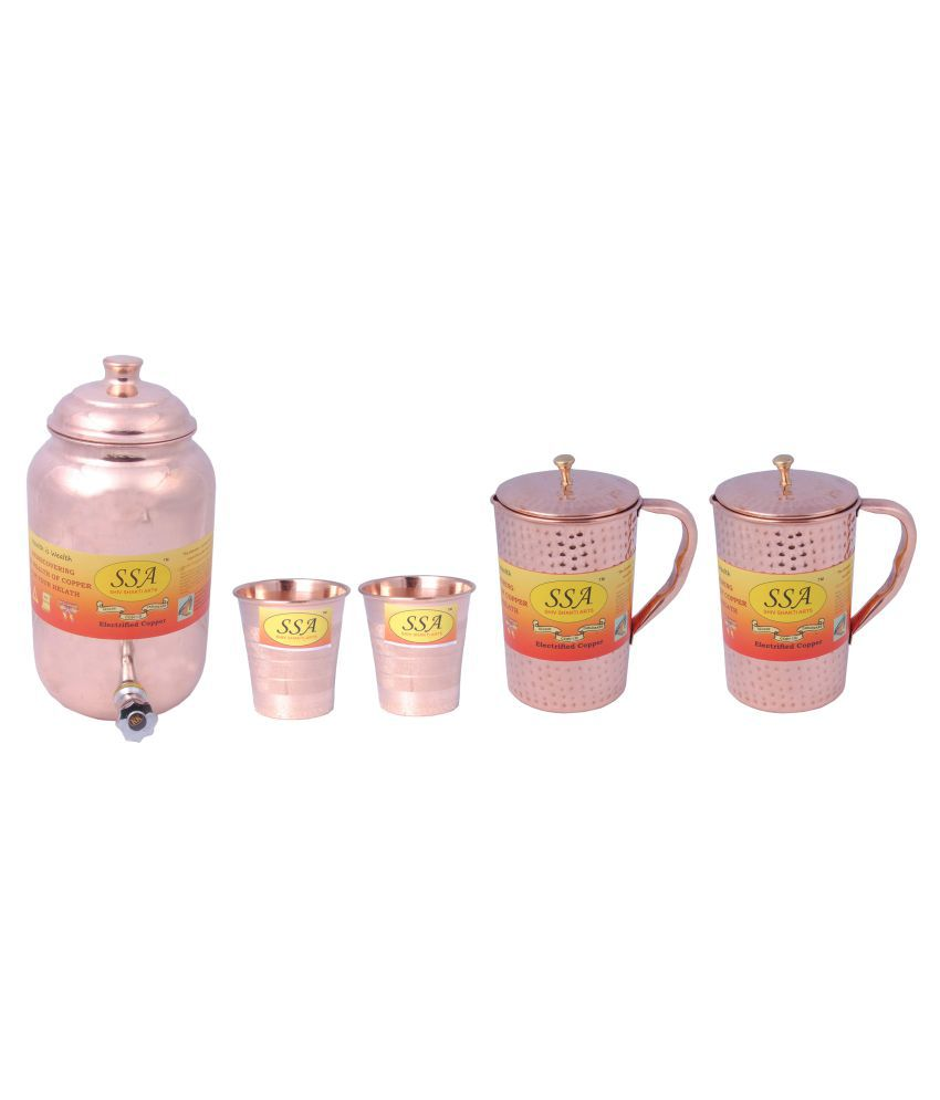 Shiv Shakti Arts Pot, Glass & Jug Set 5 Pcs Jug and Glass Combo