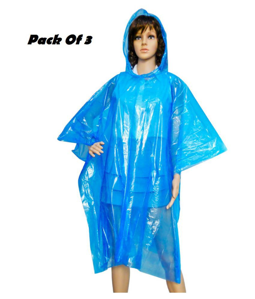 Trost Polyester Long Raincoat - Multi Color