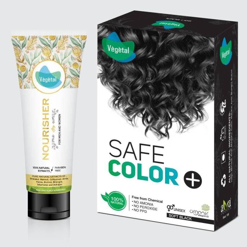 Vegetal Temporary Hair Color Black 100 g