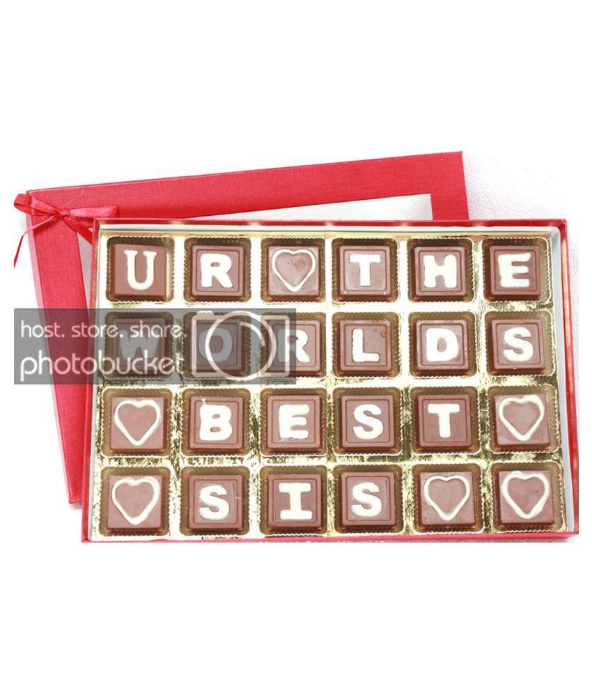 Zoroy Luxury Chocolate Chocolate Box  Message box for Sister for Rakhi 290 gm