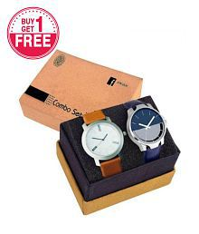 Evoto Buy 1 Get 1 Free - Analog Watch for Men