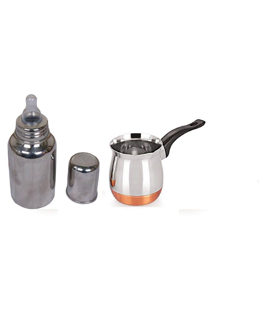 Copper bottom warmer(350 ML) with Baby milk bottle (220 ML)