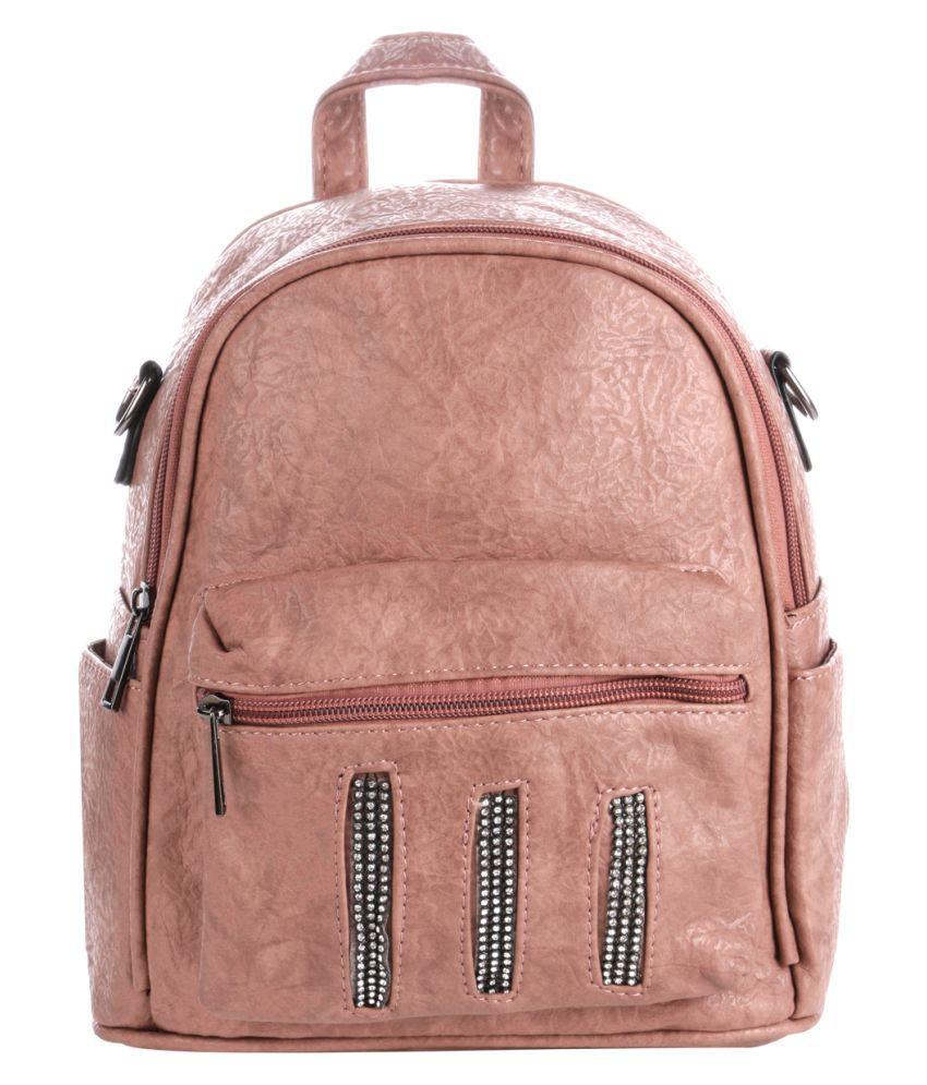 Satchel Bags & Accessories Pink P.U. College Bag