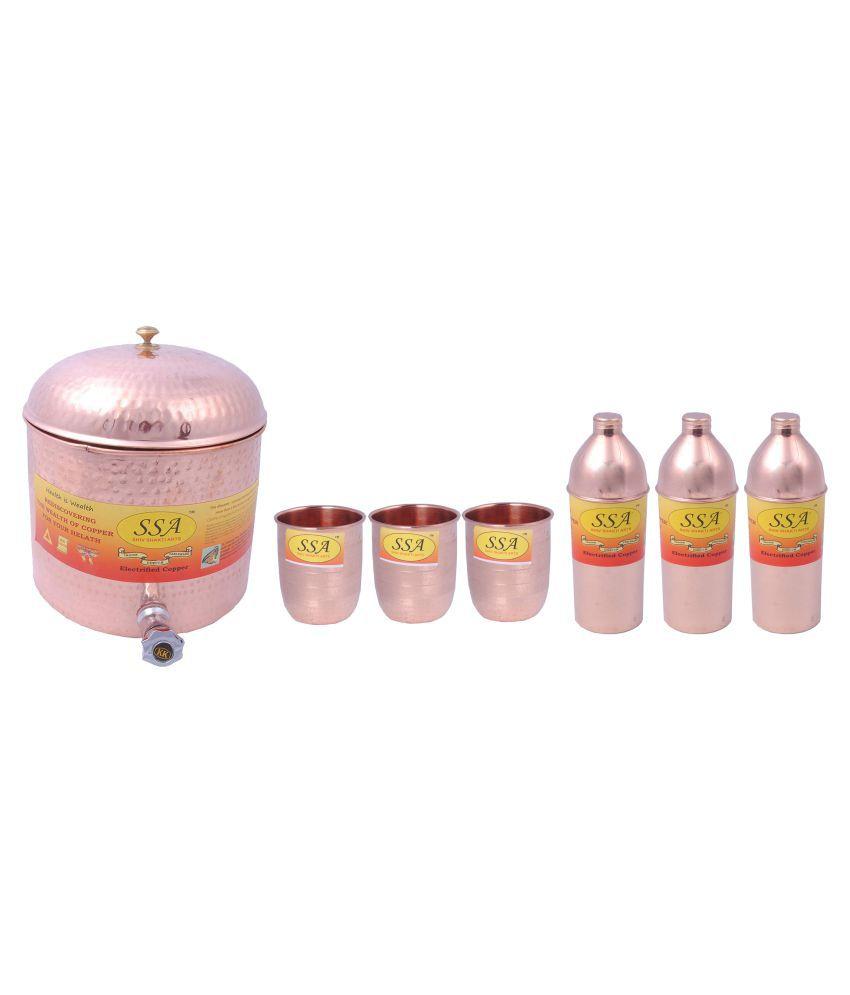 Shiv Shakti Arts Water Drinkware 7 Pcs Lemon set