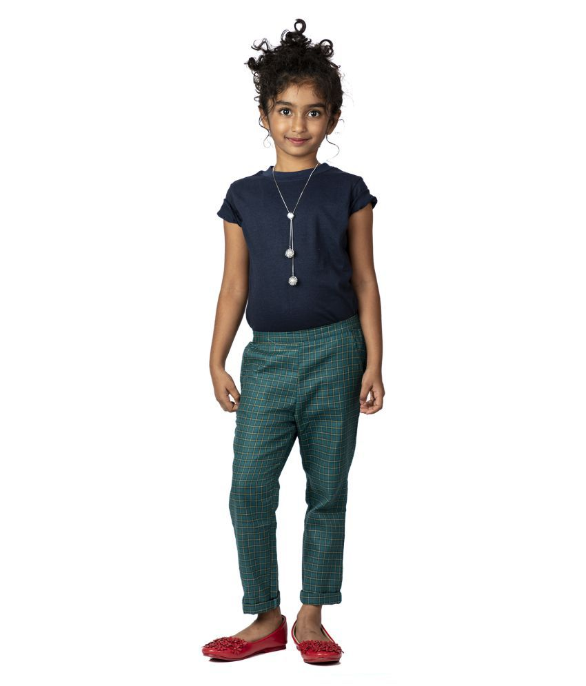 Pikaboo Navy Green Chinos with solid Navy top (2-3 Years)