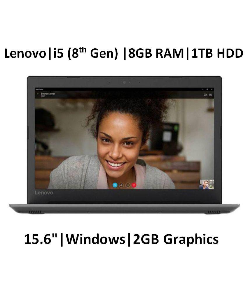 Lenovo Ideapad 330 81DE01K0IN Core i5 8th Gen - (8 GB/1 TB HDD/Windows 10 Home/2 GB Graphics) 330-15IKB Laptop (15.6 inch, Onyx Black, 2.2 kg)