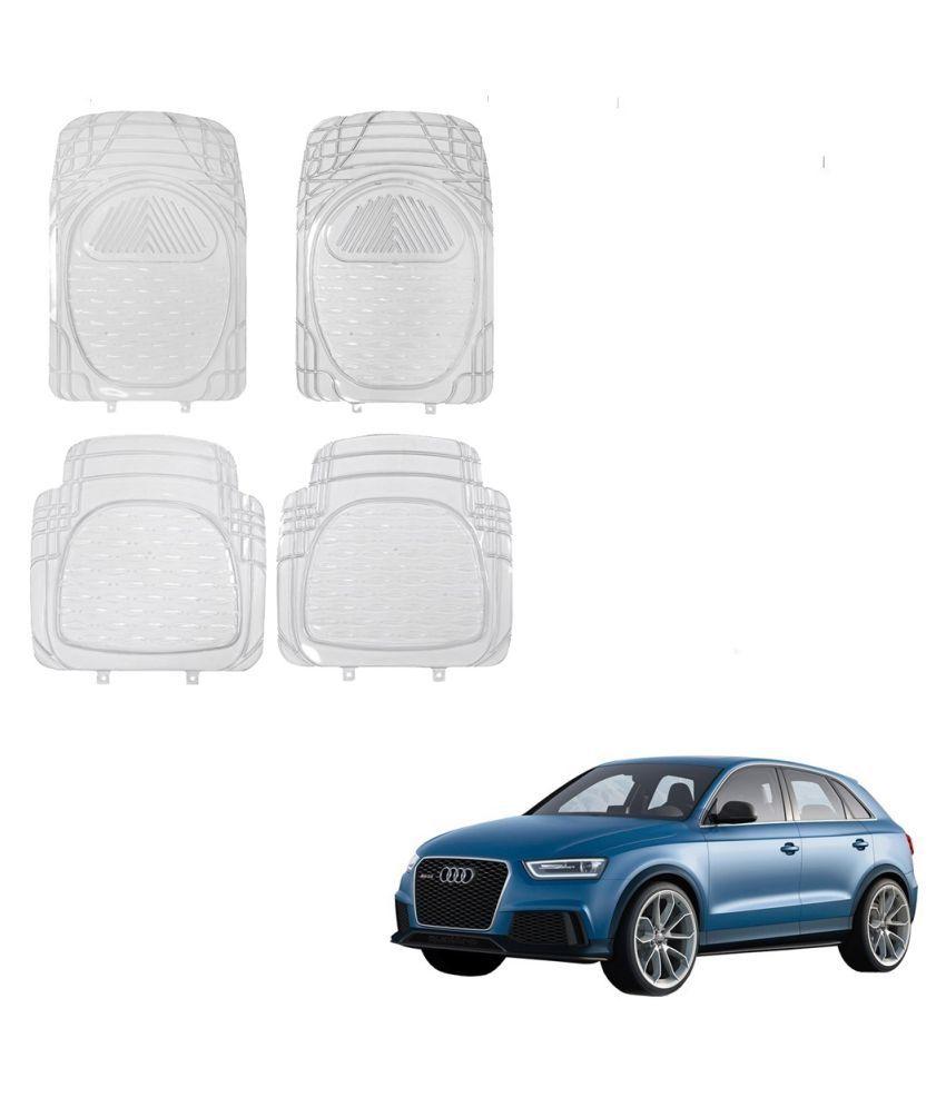 Auto Addict Car Rubber PVC Car Mat 6204 Foot Mats Clear Color Set of 4 pcs For Audi Q3
