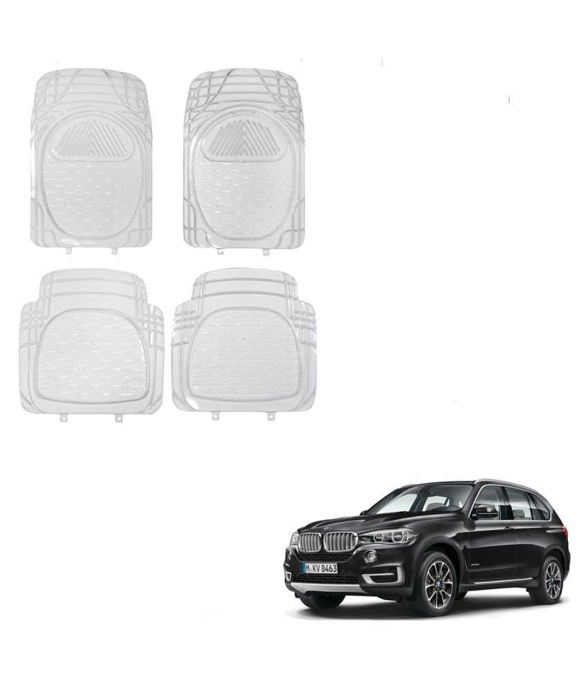 Auto Addict Car Rubber PVC Car Mat 6204 Foot Mats Clear Color Set of 4 pcs For BMW X5