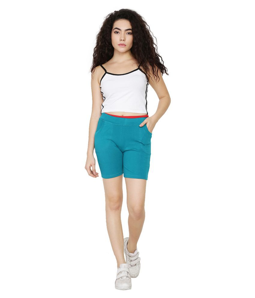 Asmaani Hosiery Night Shorts - Turquoise