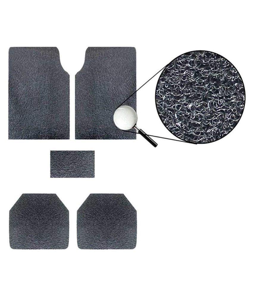 Autofetch Car Anti Slip Noodle Floor Mats (Set of 5) Black for Chevrolet Spark [2007-2012]