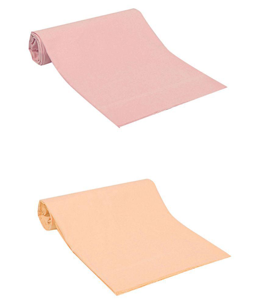 TexStylers Single Cotton Multi Plain Dohar Set of 2