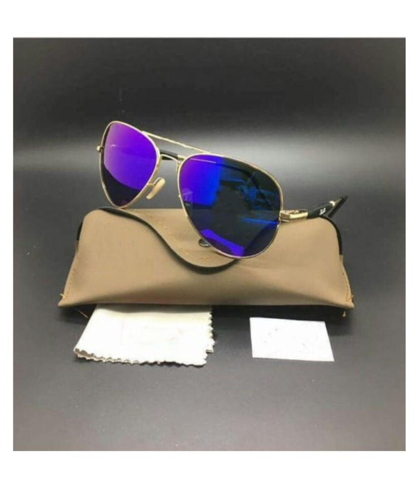 GB Fashion - Blue Pilot Sunglasses ( 3517 )