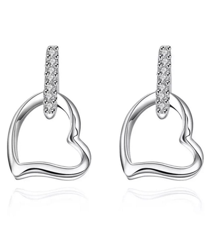 Super Heart Stud Earrings For Women & Girlss…