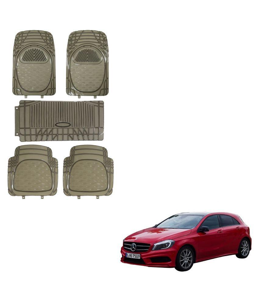 Auto Addict Car Rubber PVC Car Mat 6205 Foot Mats Smoke Color Set of 5 pcs For Mercedes Benz A-Class