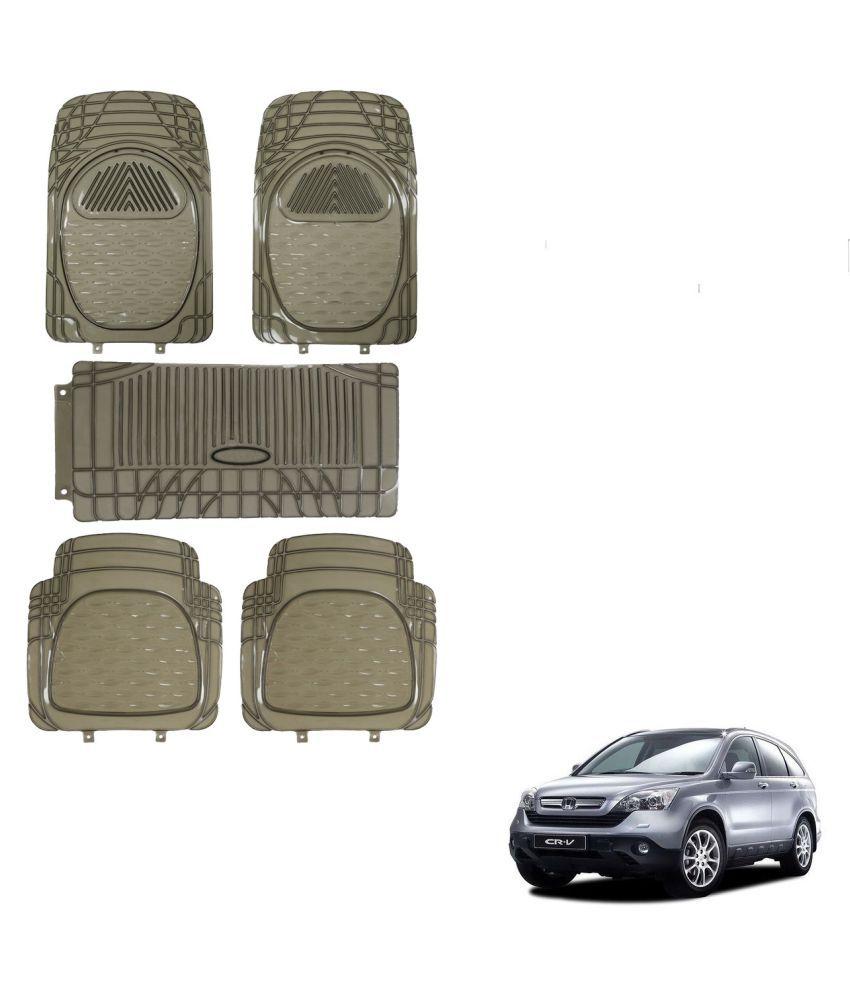 Auto Addict Car Rubber PVC Car Mat 6205 Foot Mats Smoke Color Set of 5 pcs For Honda CR-V