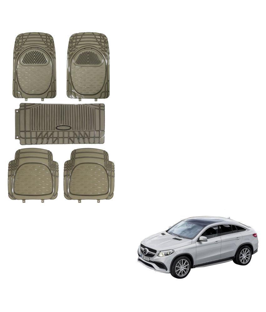 Auto Addict Car Rubber PVC Car Mat 6205 Foot Mats Smoke Color Set of 5 pcs For Mercedes Benz B-Class