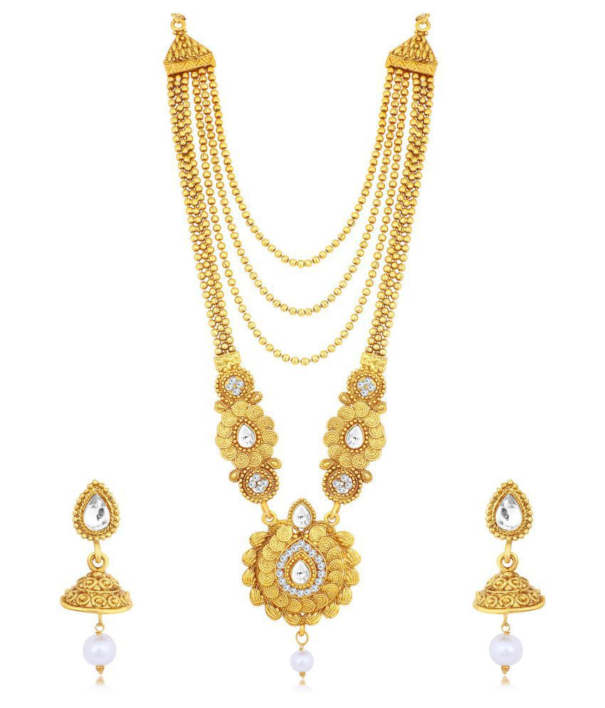 Sukkhi Alloy Golden Traditional 18kt Gold Plated
