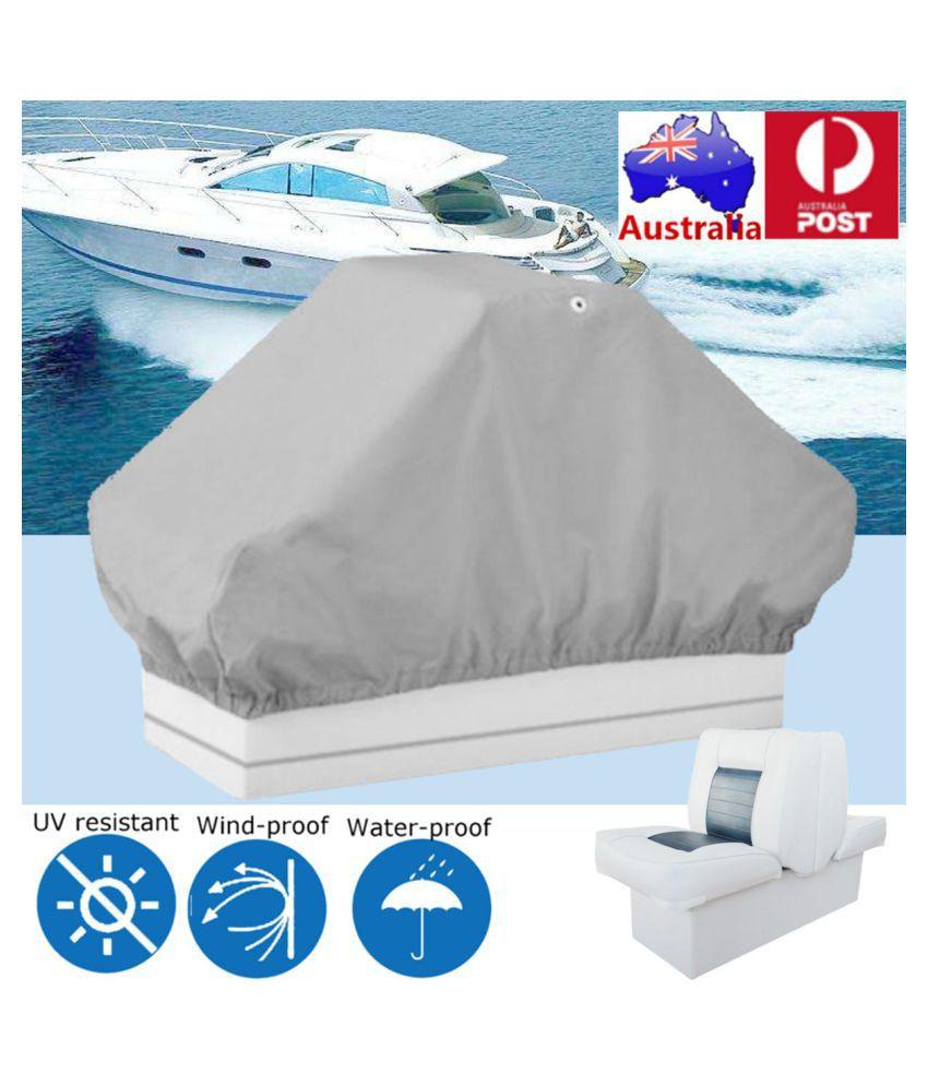 127 X56x 56cm Grey Waterproof Boat Pontoon Back To Back