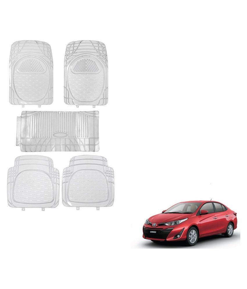 Auto Addict Car Rubber PVC Car Mat 6205 Foot Mats Clear Color Set of 5 pcs For Toyota Yaris