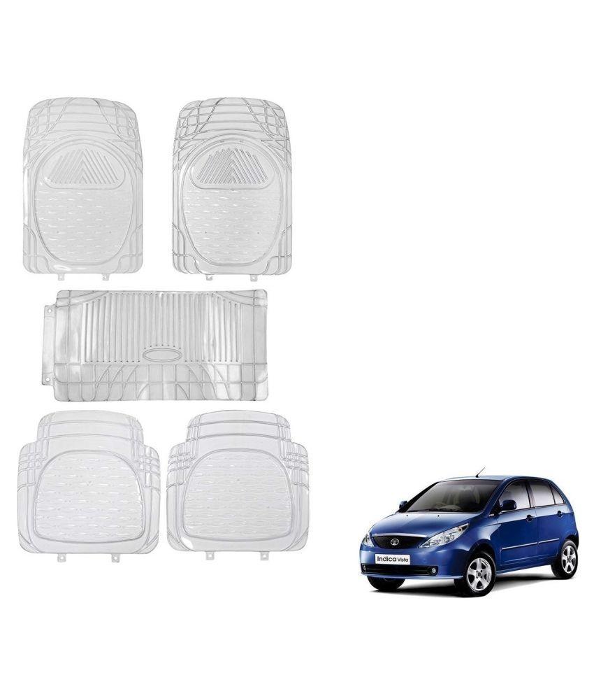 Auto Addict Car Rubber PVC Car Mat 6205 Foot Mats Clear Color Set of 5 pcs For Tata Indica Vista