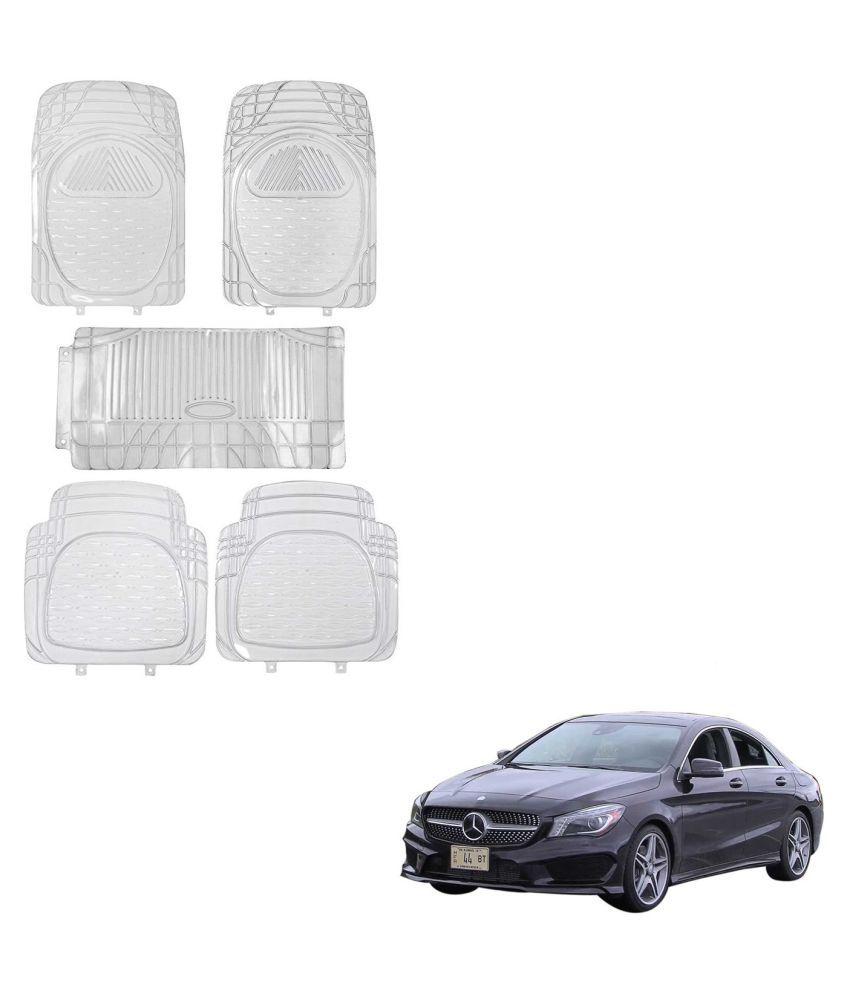 Auto Addict Car Rubber PVC Car Mat 6205 Foot Mats Clear Color Set of 5 pcs For Mercedes Benz CLA-Class