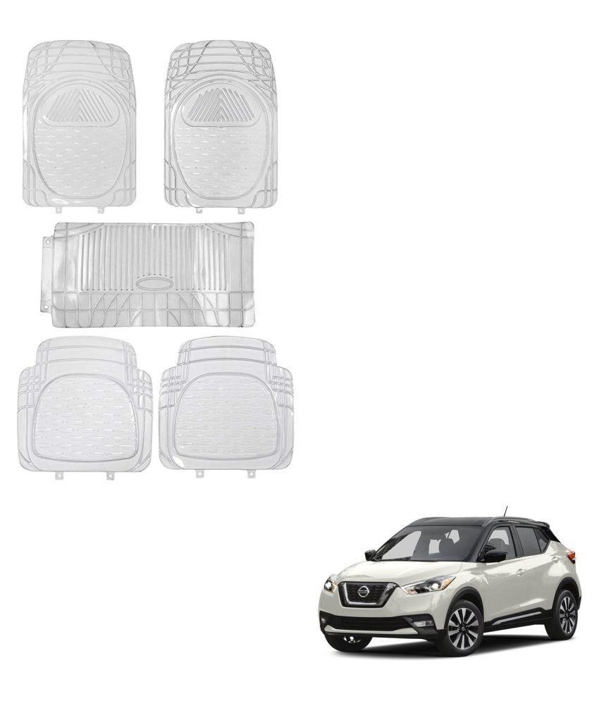 Auto Addict Car Rubber PVC Car Mat 6205 Foot Mats Clear Color Set of 5 pcs For Nissan Kicks