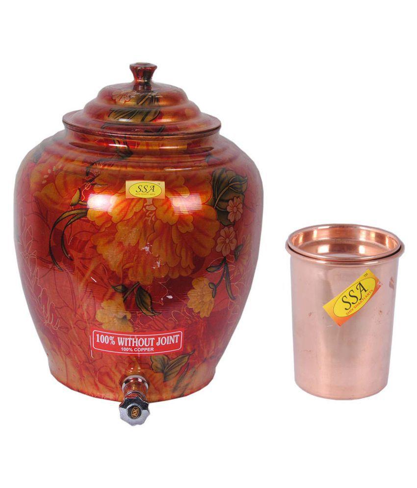 Shiv Shakti Arts Copper Drinkware Pot 1 Pcs Lemon set